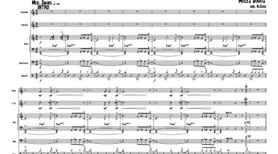 Musical arrangement for Marcin Malarz Quintet